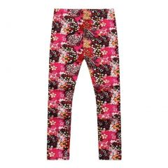 Richie House Little Girls Magenta Floral Bold Blossom Stretch Pants 1-6