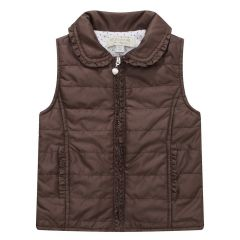 Richie House Baby Girls Brown Padding Vest 6-24M