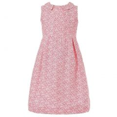Richie House Little Girls Red Sweet Floral Dress 1-5