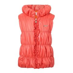 Richie House Little Girls Orange Winter Padding Vest 4-7