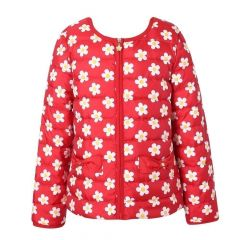 Richie House Big Girls Red Floral Down Jacket 9-14