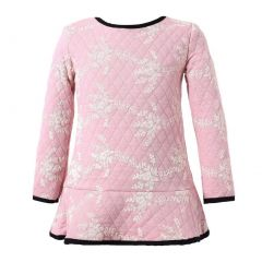 Richie House Little Girls Pink Sweet Thin Quilted Autumn Dress 1-4