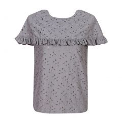 Richie House Girls Gray Lace Top Cape Collar One Size