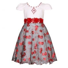 Richie House Girls Party Princess Dress With Flowers 3-4