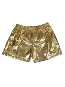 Wenchoice Girls Gold Stretch Waist Dance Gymnastic Swimming Shorts 9M-6
