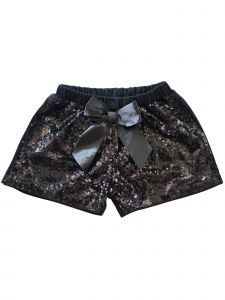 Wenchoice Girls Multi Color Sequin satin bow Elastic Waist Shorts 0M-8