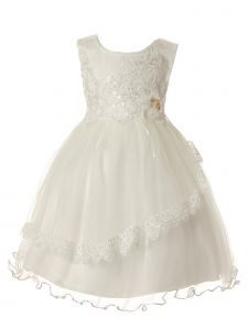 Rain Kids Baby Girls Multi Color Sequin Lace Tulle Special Occasion Dress 6-24M