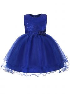 Rain Kids Little Girls Royal Sequin Organza Tulle Christmas Dress 3-6