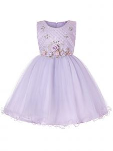 Rainkids Girls Lilac Roses Rhinestone Junior Bridesmaid Easter Dress 8-14