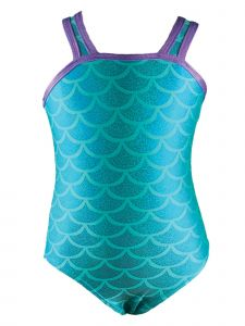 Reflectionz Big Girls Aqua Mermaid Leotard 8-10