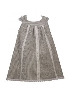 Bonnie Jean Little Girls Grey Sleeveless Lace Woven Dress 2T-6X