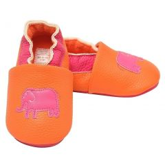 juDanzy Girls Orange Hot Pink Ellie Elephant Soft Sole Casual Shoes 1-4 Baby