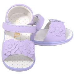 Baby Girls 2 Cute Lilac Flower Strap Spring Sandals