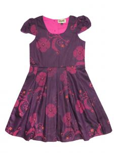 Sophie Catalou Little Girls Violet Cap Sleeve Pleated Skirt Cleo Dress 2-6
