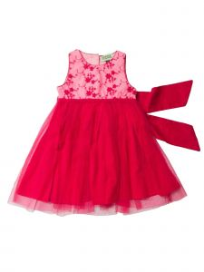 Sophie Catalou Little Girls Raspberry Framboise Lace Amber Dress 2-6