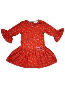 Sophie Catalou Little Girls Red Blue Gray Caroline Christmas Dress 3-6