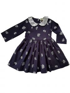 Sophie Catalou Big Girls Navy Silver Sequin Thalia Christmas Dress 8