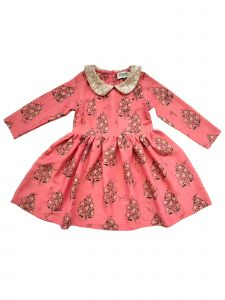 Sophie Catalou Big Girls Pink Paisley Gold Sequin Fina Dress 8