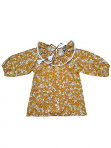 Sophie Catalou Little Girls Caramel Floral Lace Candy Dress 3-6