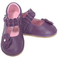 Angel Purple Jeweled Flower Mary Jane Shoes Baby Girls 1-Toddler 7