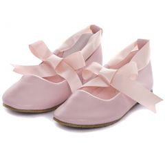 Kids Dream Pink Ballerina Ribbon Tie Rubber Shoe Little Girl 11-3