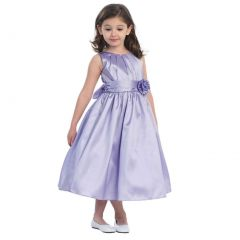 Sweet Kids Baby Toddler Little Girls Lilac Pleated Easter dress 6M-12