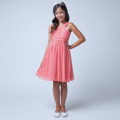 Sweet Kids Big Girls Coral Crossover Special Occasion Easter Dress 7-16