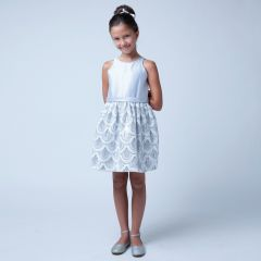 Sweet Kids Big Girls Silver Sequin Mesh Special Occasion Easter Dress 7-16