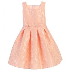 Sweet Kids Big Girls Petal Pink Vintage Baroque Junior Bridesmaid Dress 7-16