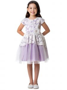 Sweet Kids Girls Multi Color Jasmine Leaf Lace Peplum Easter Dress 6M-12