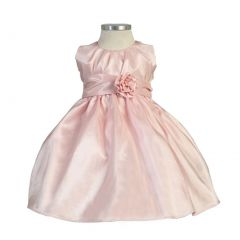 Sweet Kids Baby Toddler Little Girls Pink Pleated Easter dress 6M-12
