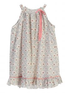 Story Kids Little Girls Gray Floral Print Ruffled Hem Casual Dress 2-6