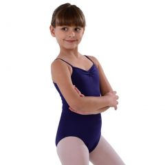 So Danca Eggplant Pinched Neckline Dance Leotard Little Girls 2-14