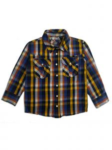 Sprockets Boys Multi Colors Plaid Casual Western Long Sleeve Shirt 12M-7