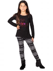 Lori Jane Big Girls Multi Nail Polish Geometrical Tunic Leggings Set 6-16