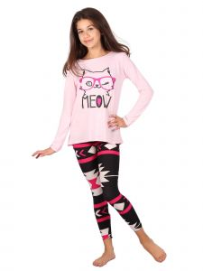 Lori Jane Big Girls Multi Sunglasses Meow Cat Aztec Tunic Leggings Set 6-16