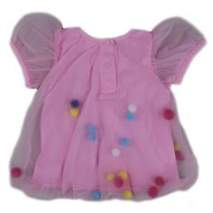 Wenchoice Baby Girls Pink Cupcake Rainbow Pom-Pom Top 9-24M