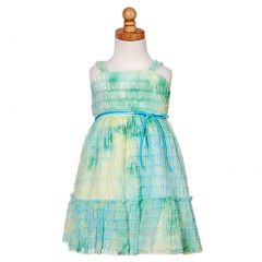 Sweet Kids Teal Soft Tulle Ruffle Baby Easter Dress 6-9M