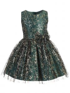 Sweet Kids Baby Girls Green Sparkle Tulle Overlay Bow Christmas Dress 9M-24M