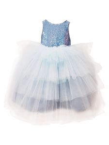 Sinai Kids Little Girls Blue Cinderella Samantha Flower Girl Dress 2-6