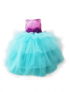 Sinai Kids Big Girls Blue Little Mermaid Samantha Flower Girl Dress 8-12