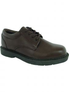 School Issue Boys Brown Lace Up Oxford Leather Medium-Wide Width Shoes