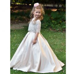Triumph Dress Big Girls Cappuccino A-Line Bolero Serenity Flower Girl Dress 8