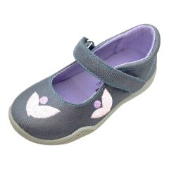 Mooshu Trainers Baby Girls Charcoal Squeaky Stella Mary Jane Shoes 3-4 Baby