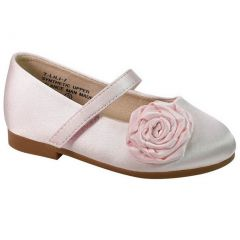 De Blossom Little Girls Pink Flower Adorned Mary Jane Casual Shoes 5-10 Toddler