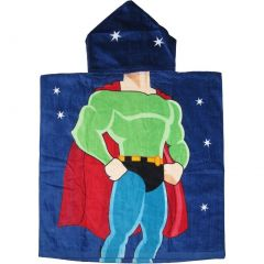 Kreative Kids Boys Multi Color Super Hero Soft Hooded Poncho Bath Towel