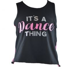 Reflectionz Little Girls Black Pink Dance Thing Racer Back Tank Top 4-6