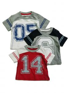 Sprockets Baby Boys Multi Number Cotton Short Sleeve 3 Pcs Pack T-Shirt 12-24M
