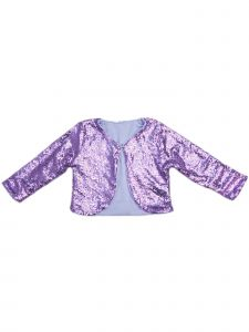 Wenchoice Girls Lavender Sequin Long Sleeve Wrap Top 24 Months-6