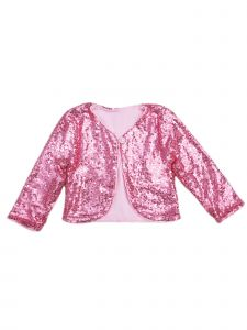 Wenchoice Girls Pink Sequin Long Sleeve Wrap Top 24 Months-6